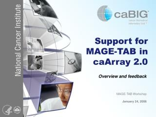 Support for MAGE-TAB in caArray 2.0