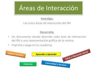 Áreas de Interacción