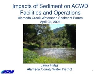 Laura Hidas Alameda County Water District