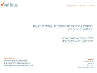 Boiler Plating Database Resource Cleanup With Execute Around Method ACCU London February 2009