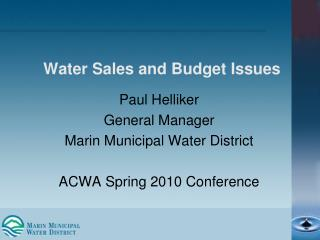Water Sales and Budget Issues
