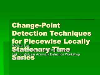 Change-Point Detection Techniques for Piecewise Locally Stationary Time Series