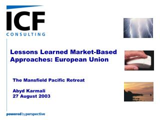 Lessons Learned Market-Based Approaches: European Union