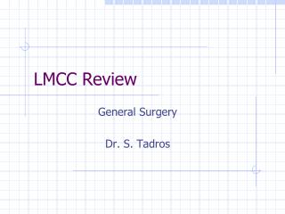 LMCC Review