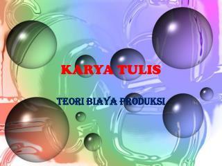 KARYA TULIS