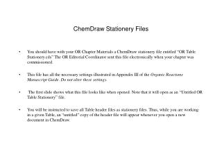 ChemDraw Stationery Files