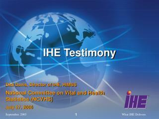 IHE Testimony