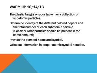 Warm-Up 10/14/13