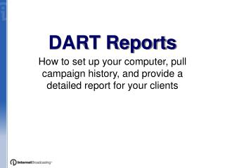 DART Reports