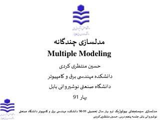 مدلسازی چندگانه Multiple Modeling