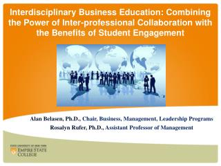 Alan  Belasen , Ph.D.,  Chair, Business, Management, Leadership Programs