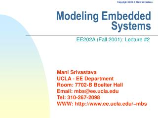 Modeling Embedded Systems