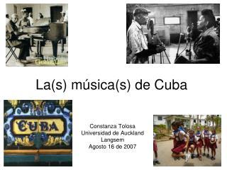 La (s) m�sica(s) de Cuba