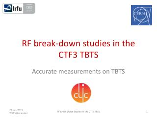 RF break-down studies in the CTF3 TBTS