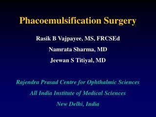 Phacoemulsification Surgery