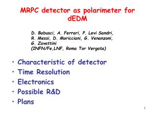 MRPC detector as polarimeter for dEDM