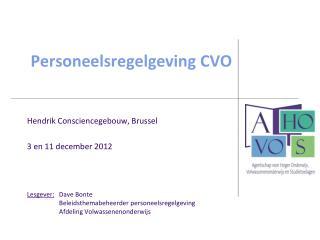 Personeelsregelgeving CVO
