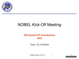 NOBEL Kick-Off Meeting
