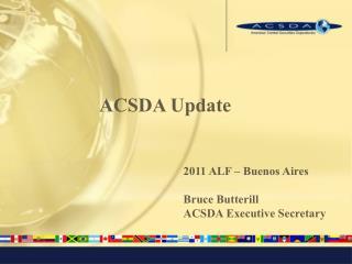 ACSDA Update