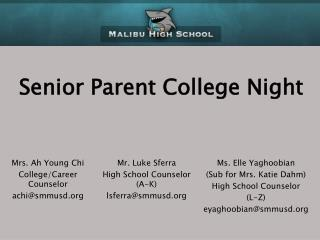 Senior Parent College Night