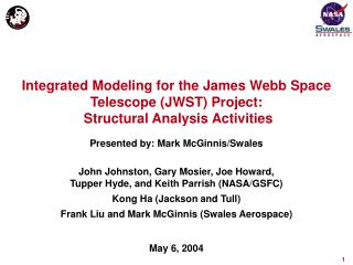 Integrated Modeling for the James Webb Space Telescope JWST Project:  Structural Analysis Activities