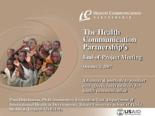 Advances  methods to conduct cost-effectiveness analysis for health communication