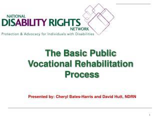 The Basic Public  Vocational Rehabilitation  Process