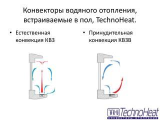 Конвекторы водяного отопления, встраиваемые в пол,  TechnoHeat.