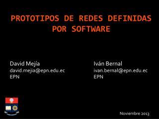 Prototipos de redes definidas por software