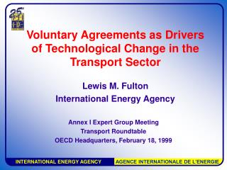 Voluntary Agreements as Drivers of Technological Change in the Transport Sector