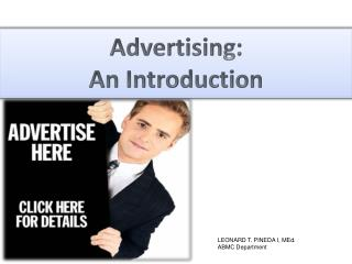Advertising: An Introduction