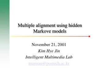 Multiple alignment using hidden Markove models