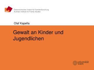 Österreichisches Institut für Familienforschung Austrian Institute for Family Studies