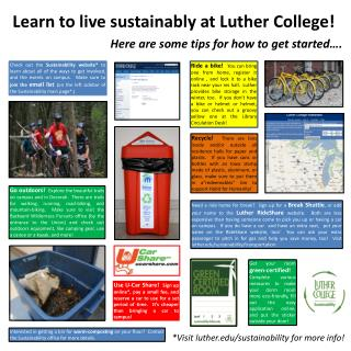 Learn to live sustainably at Luther College!