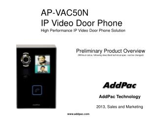AP-VAC50N IP Video Door Phone High Performance IP Video Door Phone Solution