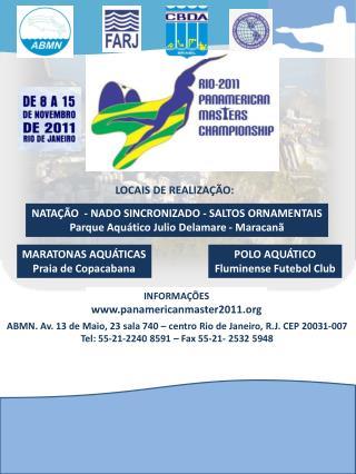 NATAÇÃO  - NADO SINCRONIZADO - SALTOS ORNAMENTAIS Parque Aquático Julio  Delamare  - Maracanã