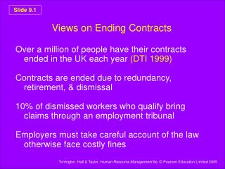 Views on Ending Contracts