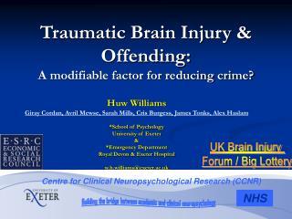 Huw Williams Giray Cordan, Avril Mewse, Sarah Mills, Cris Burgess, James Tonks, Alex Haslam  School of Psychology Univer