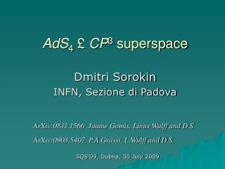 AdS 4 £ CP 3  superspace
