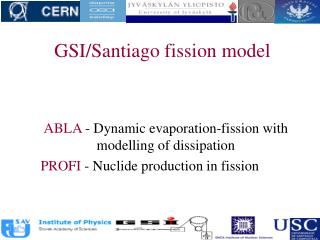GSI/Santiago fission model
