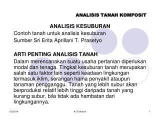 ANALISIS TANAH KOMPOSIT