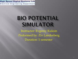 Bio potential simulator