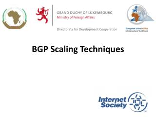 BGP Scaling Techniques