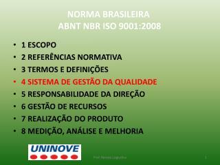 NORMA BRASILEIRA  ABNT NBR ISO 9001:2008