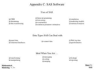 Appendix C: SAS Software