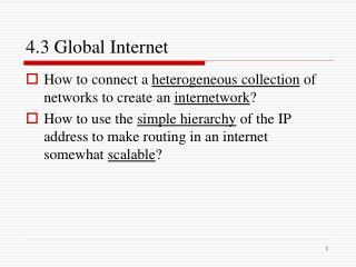 4.3 Global Internet