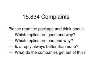 15.834 Complaints