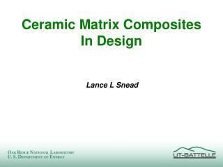 Ceramic Matrix Composites In Design