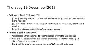 Thursday 19 December 2013