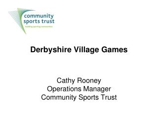 Derbyshire Village Games